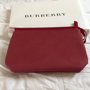 Burberry makeup bag (Red) brand new in box